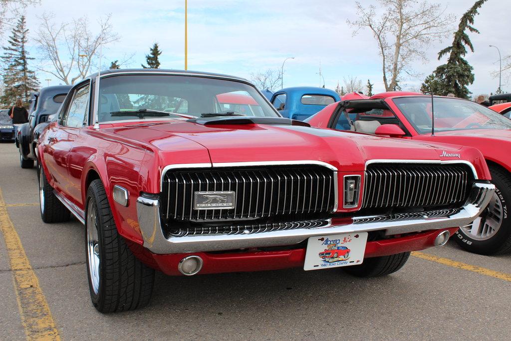 1968, mercury, cougar, red, car, nice, wallpapers