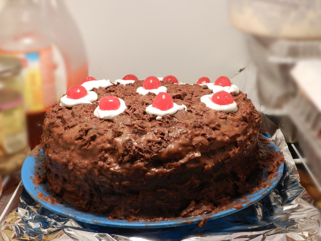 cake, chocolate, cherry, dessert