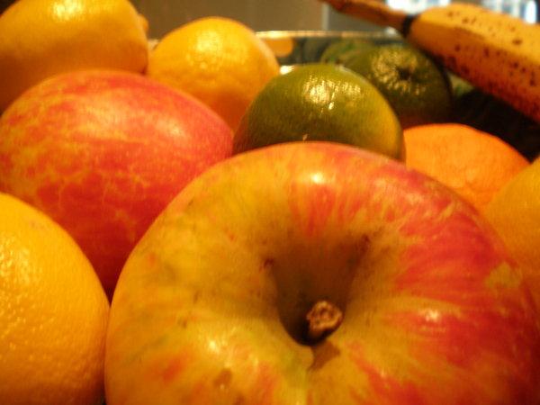 lime, apple, banana, lemon, fruit