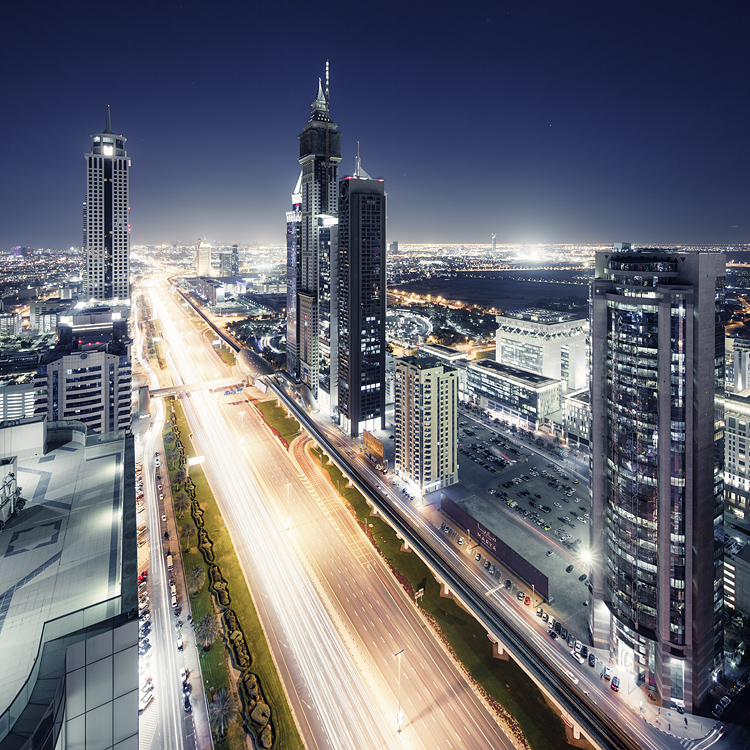 nice, dubai, cityscape, lights, view from above