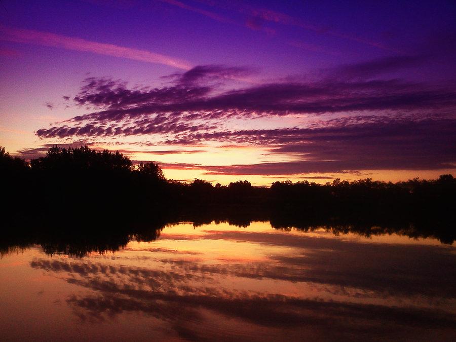night, landscape, lake, beautiful, evening, pics