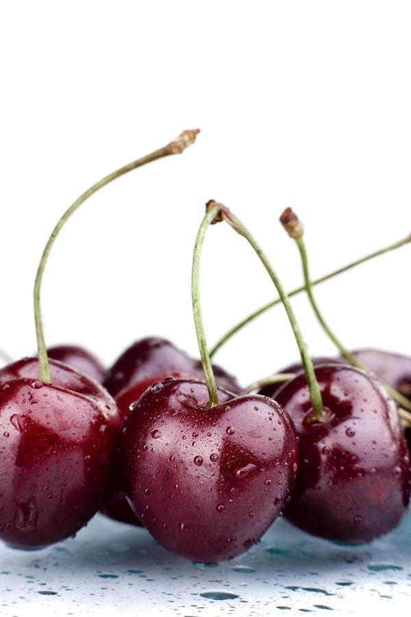 red, tasty, cherries, berries, pics