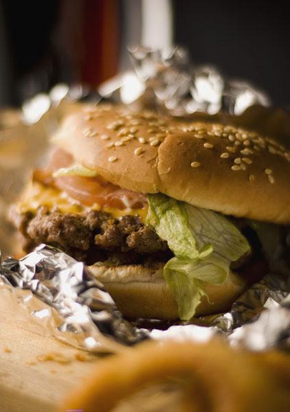 sandwich, burger, salad, fast, food