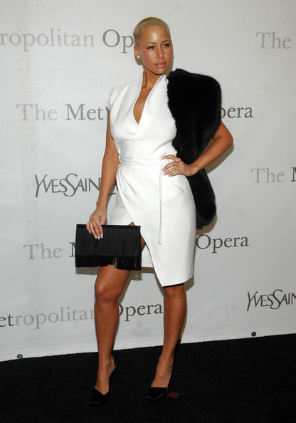 nice, woman, amber rose, white, dress, fashion