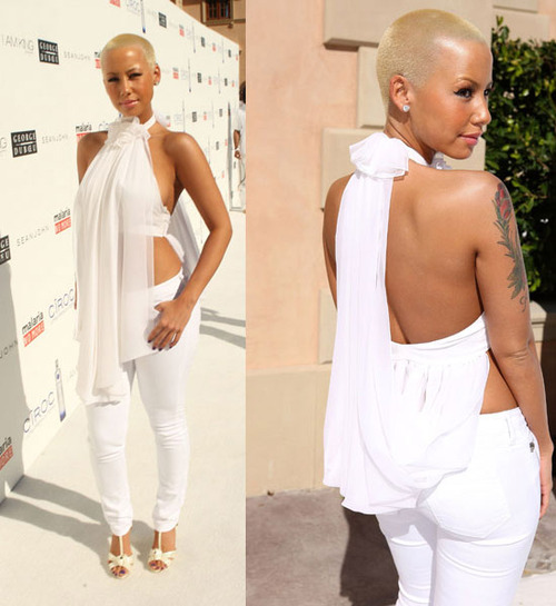 white, clothes, amber rose, celebrity, photo, style, fashion