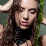 algae, long, hair, beautiful, girl, model