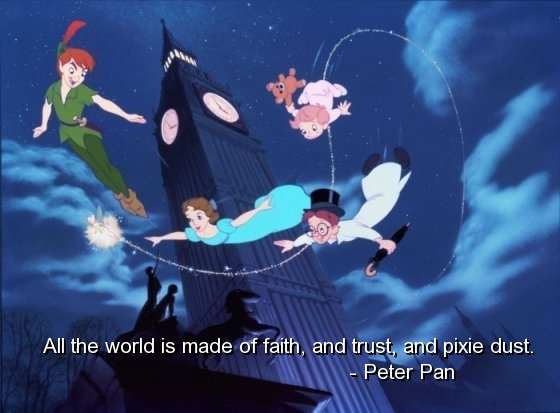 Peter pan best quotes sayings faith trust good fav