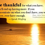 daily inspirational quotes, sayings, be thankful, oprah winfrey