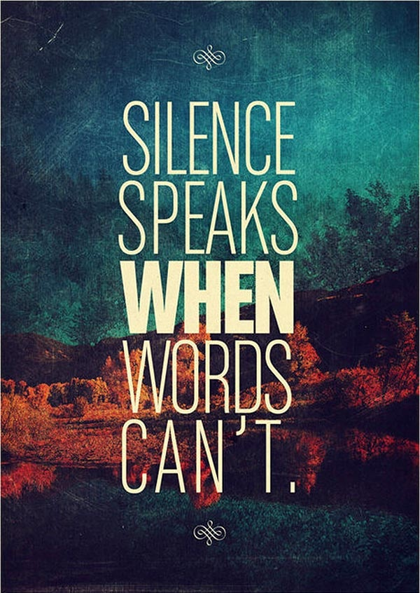 daily inspirational quotes, sayings, silence, words