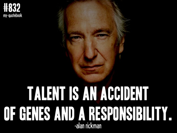 Alan Rickman Movie Quotes: Alan Rickman, Quotes, Sayings, Talent, Genes