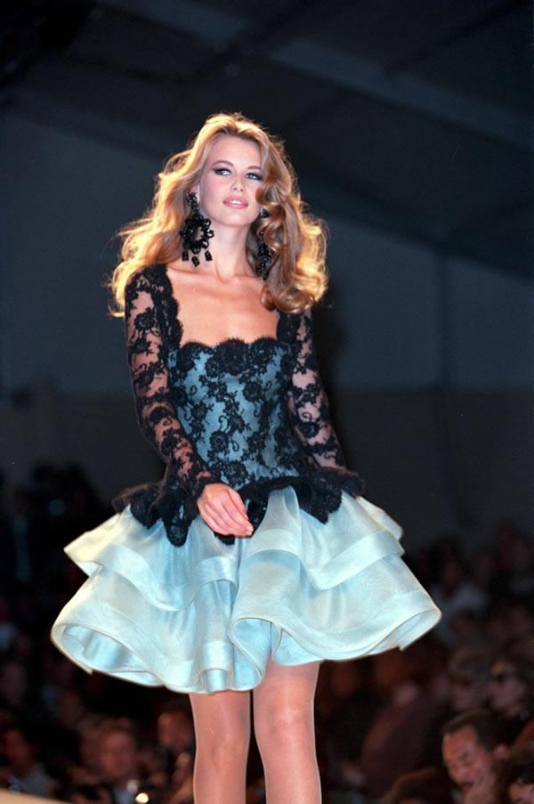 Claudia Schiffer Celebrity Models Woman Catwalk Fav