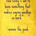 goodbye, quotes, sayings, winnie the pooh, great quote