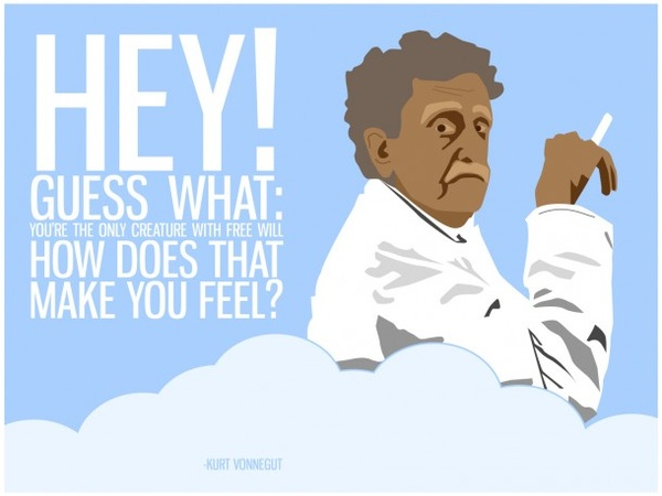 kurt vonnegut, quotes, sayings, creature, free will