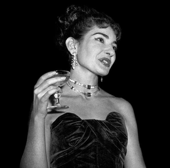 Maria Callas On Stage Maria callas, celebrity