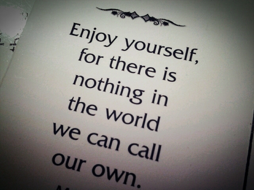 quotable, quotes, sayings, enjoy yourself