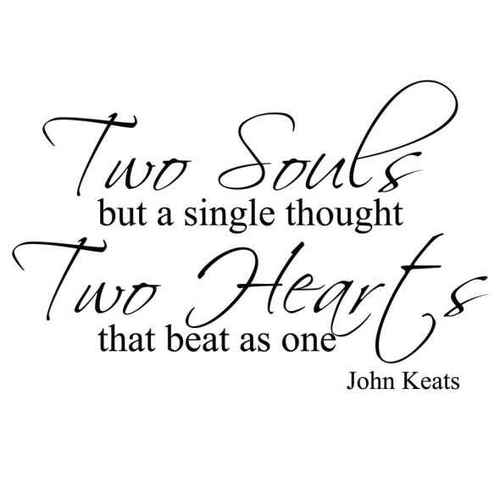 Wedding Quotes Sayings Two Souls Hearts Cute