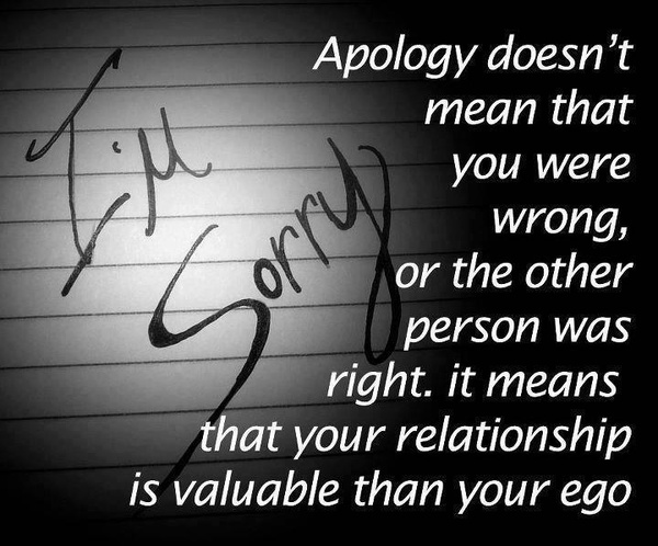 apology, quotes, sayings, your ego, relationship