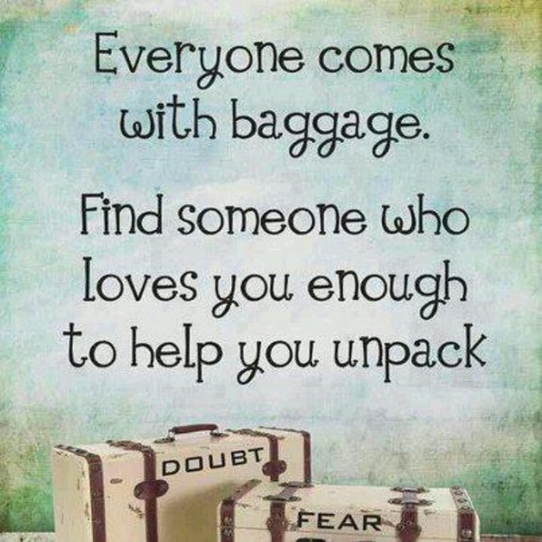 english quotes sayings baggage unpack good quote - Everyone