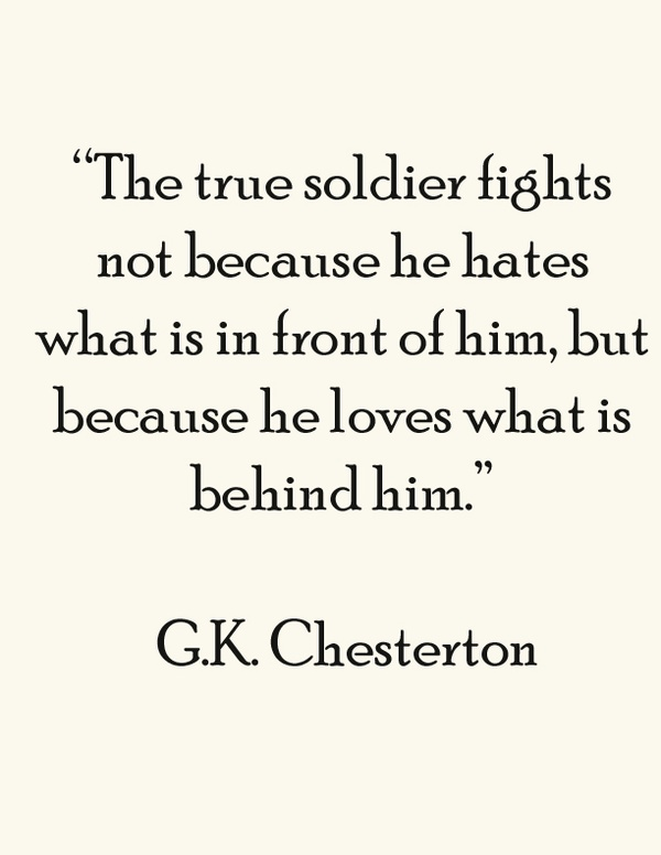 Clever Quotes | G K Chesterton Quotes Sayings True Soldier Clever Quote Fav