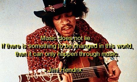jimi hendrix, quotes, sayings, music, change, world, great | Favimages