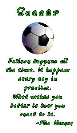 soccer, mia hamm, quotes, sayings, failure, motivational ...