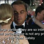 the great gatsby, quotes, sayings, large parties, pictures
