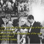 the great gatsby, quotes, sayings, longest day, year, famous