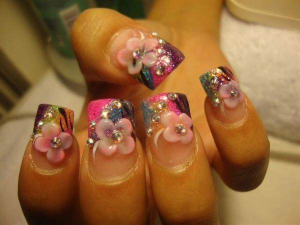 3d Nail Designs Flowers 3d Nails Ideas Flowers