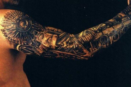 biomechanical tattoo, biomechanics, tattoos, gallery, idea