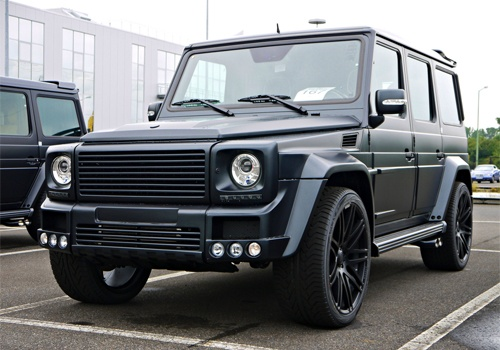 brabus g class mercedes benz amg black matte front view on the hunt. Black Bedroom Furniture Sets. Home Design Ideas