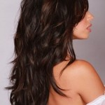 brunette layered hairstyles, beauty, woman