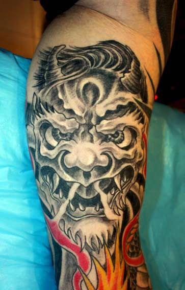 Japanese art tattoo design idea tattoos face pics for Asian face tattoos
