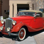 Mercedes Benz 320 Cabriolet, 1938, red car
