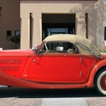 Mercedes Benz 320 Cabriolet 1938, roof up, side view