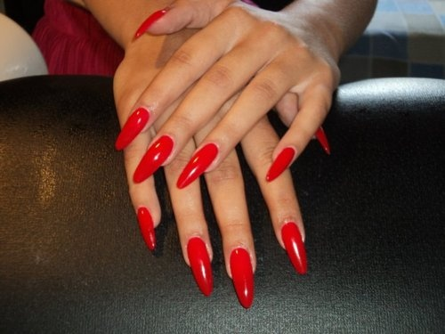 red stiletto nails ideas designs cute manicure fav