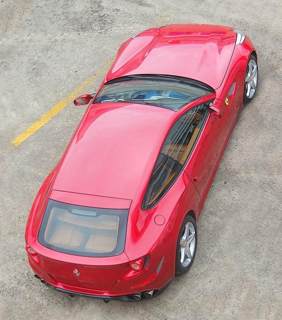 Ferrari FF, Red Car, Rear Top View, Images