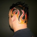 most, unusual, hairstyles, haircut, fire