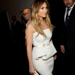 2013 Jennifer Lopez, white dress, celebrity