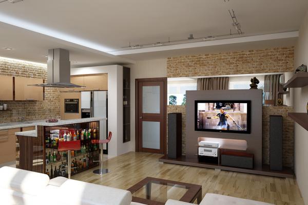 Бело-оранжевый интерьер квартиры в швеции
