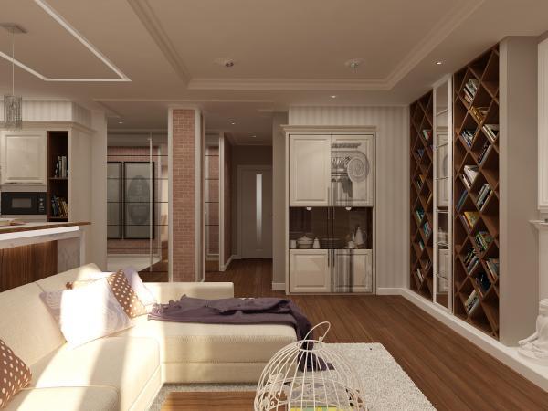 Как визуально увеличить гостиную