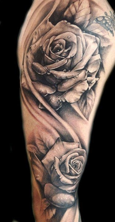 Rose Sleeve Tattoo Sketch