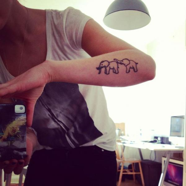 Elephant tattoos cute arm pictures fav images - Cute elephant tattoos tumblr ...