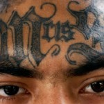 gang tattoos, pics, man, face, eyes