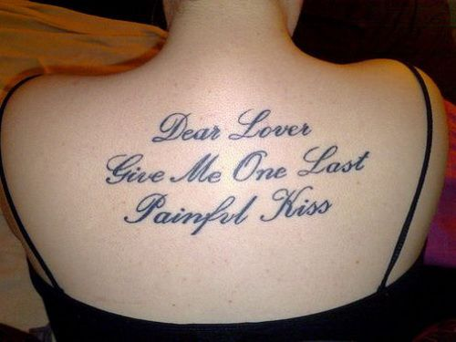 good tattoo quotes ideas for women back fav images amazing pictures. Black Bedroom Furniture Sets. Home Design Ideas