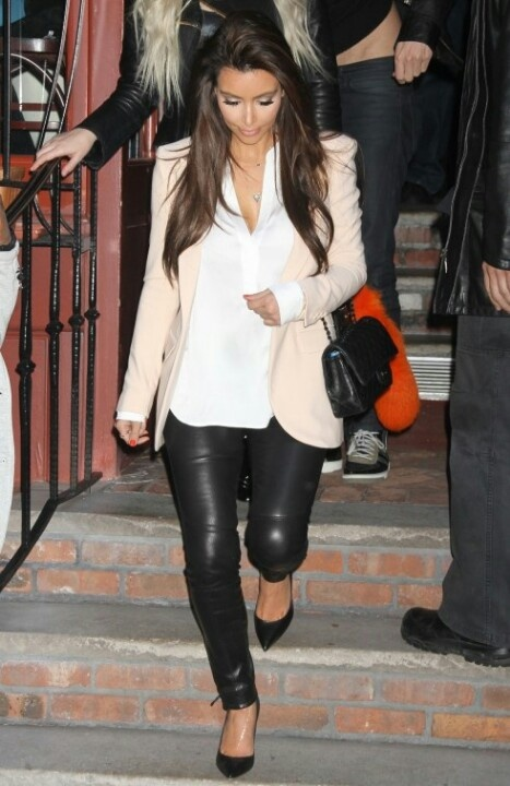 Kim Kardashian Fashion Beautiful Cool Outfit Fav Images Amazing Pictures