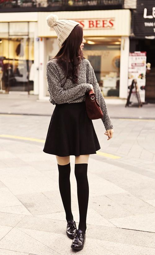 Korean Fashion Design Street Style Asian Girls Slim