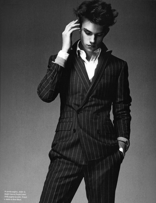 Go to site male fashion handsome man clothes black and white