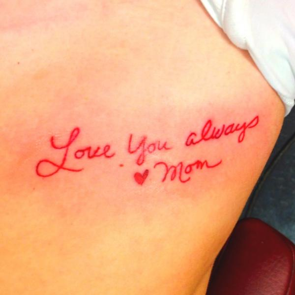 25 Beautiful Mom Tattoos For Love And Honor: Mom Tattoos, Pictures, Lettering