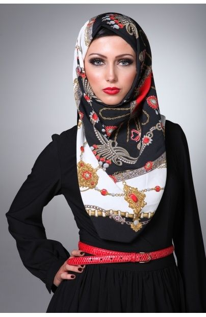 Beautiful Muslim woman wearing hijab so cute