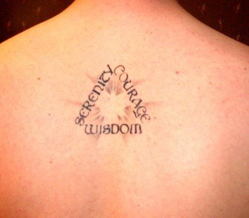 Shoulder Tattoo Quote Ribcage Serenity Prayer: Serenity Prayer Tattoo, Nice, Style, Back